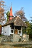 Kleine Kapelle in Hohle Gasse nahe Kussnacht sind Rigi lizenzfreies stockbild