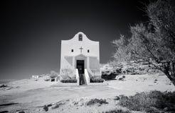 Kleine katholische Kirche nahe Azure Window, Gozo-Insel, Malta lizenzfreies stockfoto