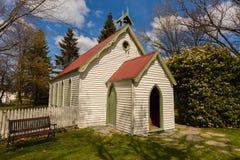 Kleine kerk in Arrowtown, Nieuw Zeeland Stock Foto