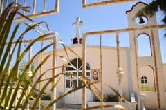 Kleine kerk in Baja Mexico Stock Afbeeldingen