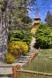 Kleine kerk dichtbij Bariloche, Argentinië Royalty-vrije Stock Foto