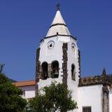 Kleine kerk in Kerstman Cruz. Madera Stock Foto