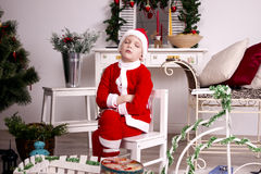 Kleine Kerstman Stock Foto