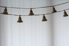 Kleine Kerstmisklokken voor decoratie Royalty-vrije Stock Foto