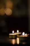 Kleine Kerzen Stockfotos