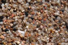 Kleine kiezelstenen op het strandclose-up Stock Afbeelding