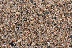 Kleine kiezelstenen op het strandclose-up Stock Fotografie