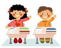 Kleine Kinder in der Schule Stockbilder