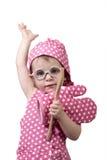 Kleine kinderen, met een houten lepel en kokkostuum Royalty-vrije Stock Foto