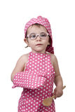 Kleine kinderen, met een houten lepel en kokkostuum Royalty-vrije Stock Fotografie