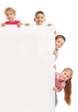 Kleine kinderen met spatie stock foto's