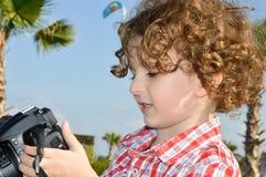 Kleine kindfotograaf Royalty-vrije Stock Fotografie