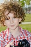 Kleine kindfotograaf Royalty-vrije Stock Foto's