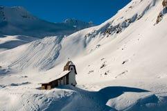 Kleine Kirche auf Tiefenbachgletscher stockbilder