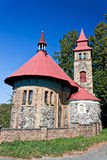 Kleine Kirche in Böhmen - Tschechische Republik Lizenzfreies Stockfoto