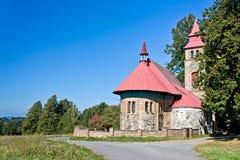Kleine Kirche in Böhmen - Tschechische Republik stockfotos
