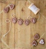 Kleine koekjes voor Nieuwe Year& x27; s Royalty-vrije Stock Afbeelding
