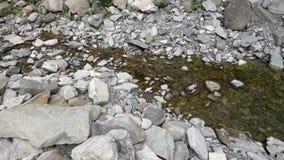 Kleine kreek in de bergen stock video