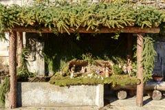 Kleine Krippe im Wäschehaus bei Crodo, Ossola Lizenzfreies Stockfoto