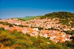 Kleine Kroatische stad. Royalty-vrije Stock Fotografie