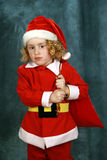 Kleine Krullende Kerstman Royalty-vrije Stock Foto