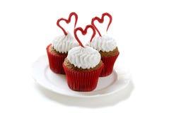 Kleine Kuchen des Valentinsgrußes Lizenzfreie Stockfotos