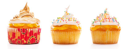 Kleine Kuchen eingestellt Stockbilder