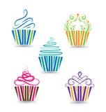 Kleine Kuchen eingestellt stock abbildung