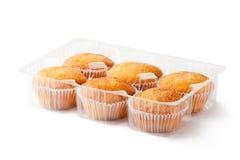 Kleine Kuchen im Kleinpaket Stockfotografie