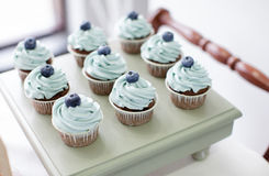 Kleine Kuchen mit Blaubeere Lizenzfreie Stockbilder