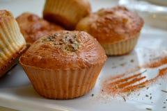 Kleine Kuchen mit Brokkoli Lizenzfreie Stockfotografie
