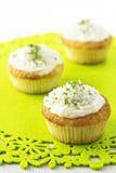 Kleine Kuchen mit Kokosnuss und Kalk Lizenzfreies Stockbild