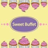 Kleine Kuchen, süßes Buffet lizenzfreies stockfoto