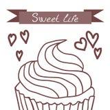 Kleine Kuchen, süßes Leben lizenzfreies stockbild
