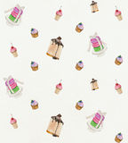 Kleine Kuchen und Kuchen Stockfotos