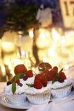Kleine Kuchen, yum stockbild