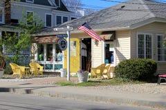 Kleine kustwinkel open voor zaken, Perkins Cove, Maine, 2016 royalty-vrije stock fotografie