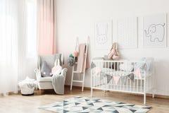 Kleine ladder in slaapkamer royalty-vrije stock foto