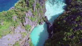 Kleine Lagune, EL Nido, Palawan, Philippinen stock video footage
