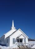 Kleine Land Neu-England Kirche im Winter Stockbilder