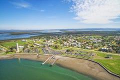 Kleine landelijke vissershaven in Australië Royalty-vrije Stock Afbeelding