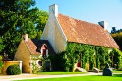 Kleine landwirtschaftliche Häuser von sieben Zwergen in Frankreich Lizenzfreie Stockfotografie