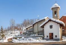 Kleine landwirtschaftliche Kapelle Stockfotografie