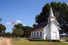 Kleine landwirtschaftliche Kirche in Texas Stockbild