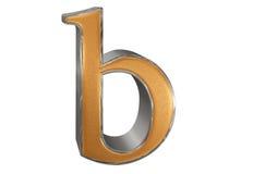 Kleine letter B, die op wit wordt geïsoleerd, met het knippen van weg, 3D IL Stock Afbeelding