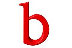 Kleine letter B, die op wit wordt geïsoleerd, met het knippen van weg, 3D IL Royalty-vrije Stock Afbeeldingen