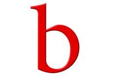 Kleine letter B, die op wit wordt geïsoleerd, met het knippen van weg, 3D IL Stock Afbeeldingen