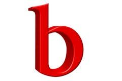Kleine letter B, die op wit wordt geïsoleerd, met het knippen van weg, 3D IL Royalty-vrije Stock Foto's