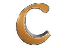 Kleine letter C, die op wit wordt geïsoleerd, met het knippen van weg, 3D IL royalty-vrije illustratie