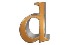 Kleine letter D, op wit wordt geïsoleerd, met het knippen van weg, 3D IL dat Royalty-vrije Stock Afbeeldingen